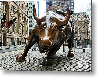 Charging Bull 1 Metal Print by Nishanth Gopinathan