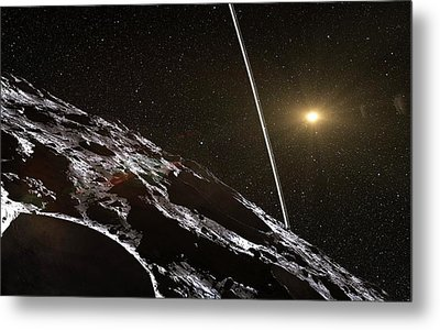 Chariklo Minor Planet And Rings Metal Print by European Southern Observatory