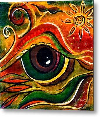 Metal Print featuring the painting Charismatic Spirit Eye by Deborha Kerr