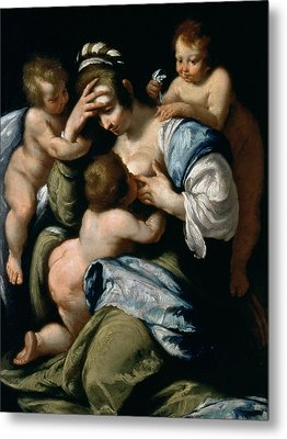 Charity Metal Print by Bernardo Strozzi