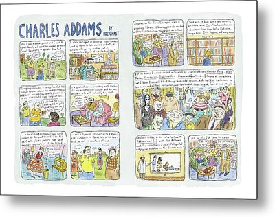 Charles Addams Metal Print by Roz Chast