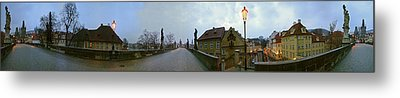 Charles Bridge 360 Metal Print by Gary Lobdell
