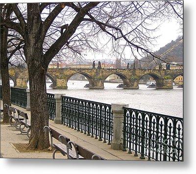 Charles Bridge  Metal Print by Suzanne Oesterling