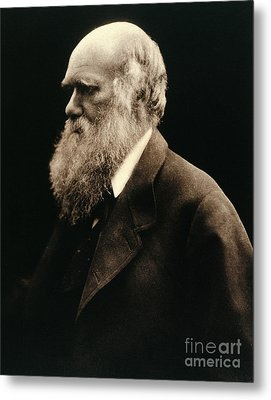 Charles Darwin By Julia Margaret Metal Print by Wellcome Images