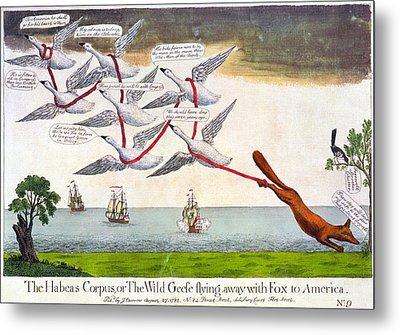 Charles Fox: Cartoon, 1782 Metal Print by Granger