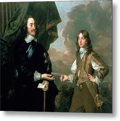 Charles I And James, Duke Of York Metal Print by Sir Peter Lely