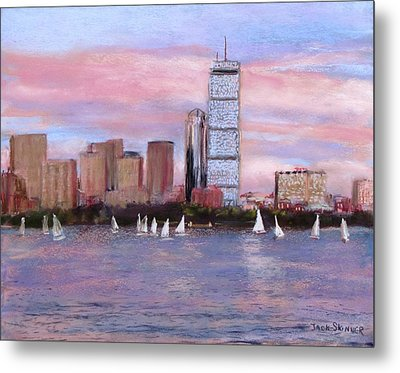 Charles River Boston Metal Print by Jack Skinner
