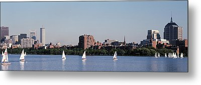 Charles River Skyline Boston Ma Metal Print by Panoramic Images