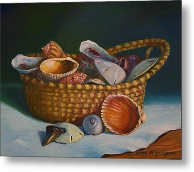Charleston Basket Metal Print by Dorothy Allston Rogers
