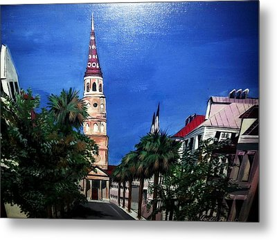 Charleston Church Street  Metal Print