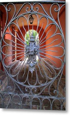 Charleston Gate 1 Metal Print by Randall Weidner
