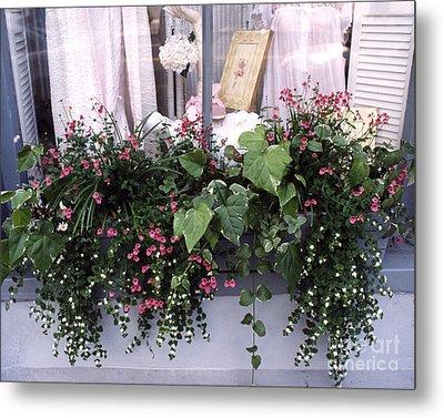 Charleston Romantic Floral Window Box Flowers Vintage Cottage Chic Flower Box  Metal Print