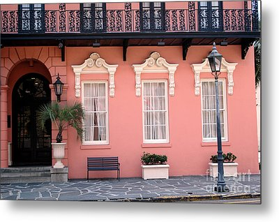 Charleston South Carolina - The Mills House - Art Deco Architecture Metal Print by Kathy Fornal