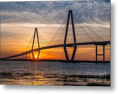 Charleston Sun Setting  Metal Print by Dale Powell
