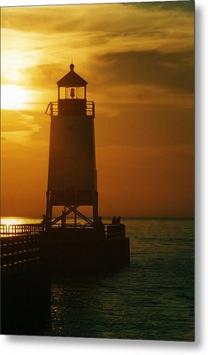 Charlevois Sunset Metal Print