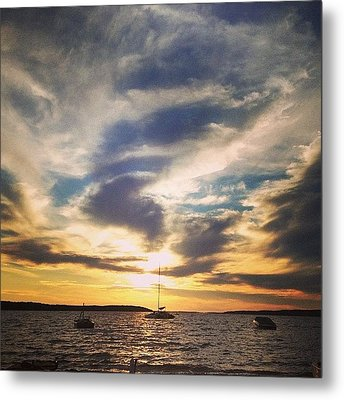 Charlevoix Sunset Metal Print by Christy Beckwith