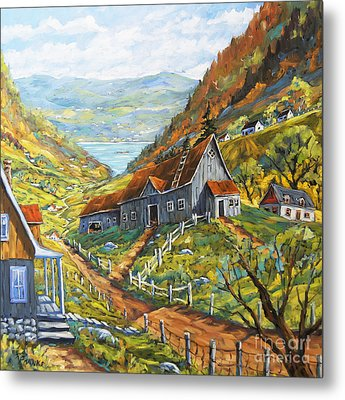 Charlevoix Valley By Prankearts Metal Print by Richard T Pranke