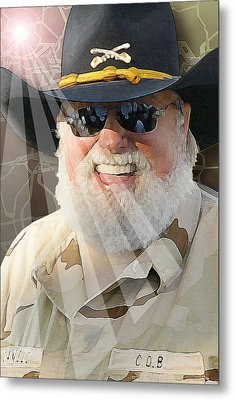 Metal Print featuring the digital art Charlie Daniels by Don Olea