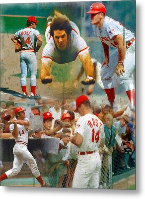 Charlie Hustle A Collage Metal Print by John Farr