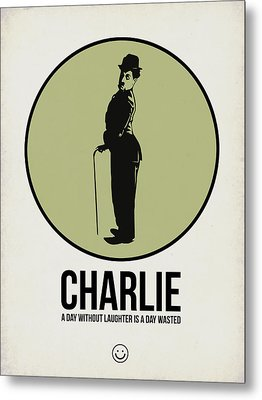 Charlie Poster 1 Metal Print by Naxart Studio