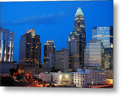 Metal Print featuring the photograph Charlotte At Night by James Kirkikis