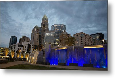 Charlotte City Lights Metal Print by Serge Skiba