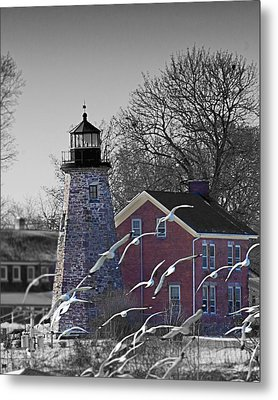 The Charlotte Genesee Lighthouse Metal Print by Richard Engelbrecht