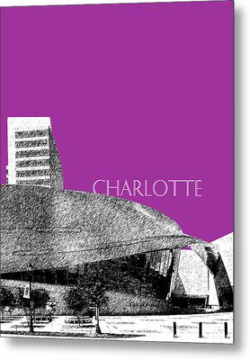 Charlotte Nascar Hall Of Fame - Plum North Carolina Metal Print by DB Artist