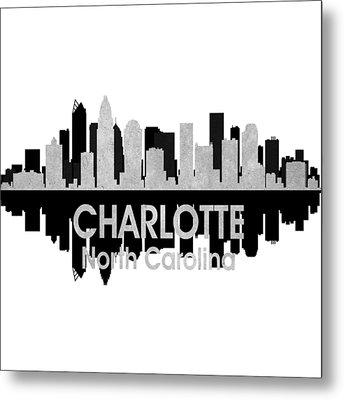 Charlotte Nc 4 Squared Metal Print by Angelina Vick