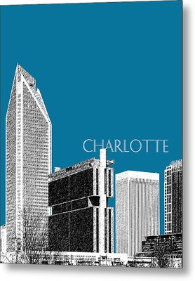 Charlotte Skyline 1 - Steel Metal Print by DB Artist