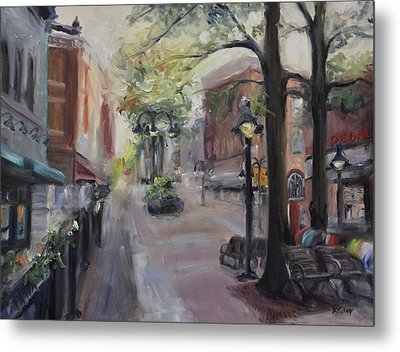 Charlottesville's Historic Downtown Mall Metal Print by Donna Tuten
