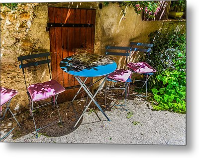 On The Patio Metal Print by Dany Lison
