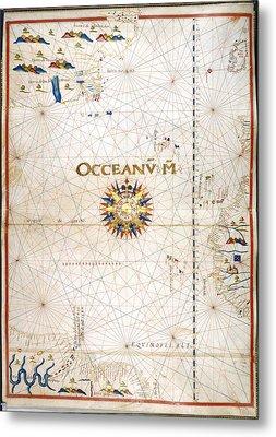 Chart Of The Atlantic Ocean Metal Print by British Library