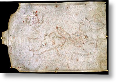 Chart Of The Coasts Of Europe Metal Print by British Library