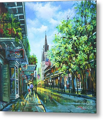 Metal Print featuring the painting Chartres Afternoon by Dianne Parks