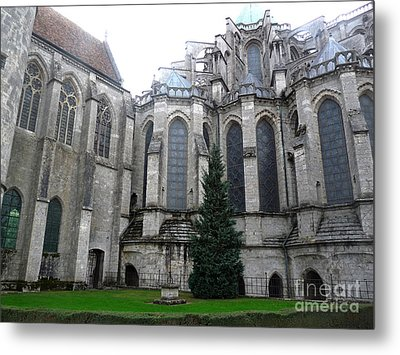 Metal Print featuring the photograph Chartres Cathedral by Deborah Smolinske