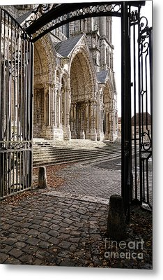 Chartres Cathedral North Transept Metal Print by Olivier Le Queinec