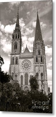 Chartres Cathedral Metal Print by Olivier Le Queinec