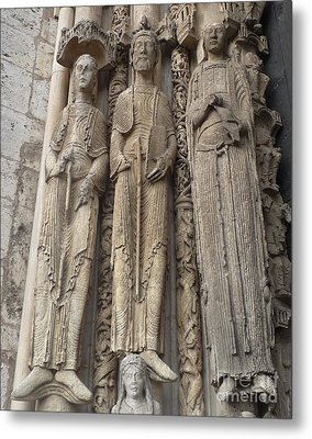 Metal Print featuring the photograph Chartres Cathedral Saints by Deborah Smolinske