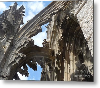 Metal Print featuring the photograph Chartres Flying Buttress by Deborah Smolinske