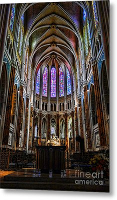 Chartres Metal Print by Olivier Le Queinec