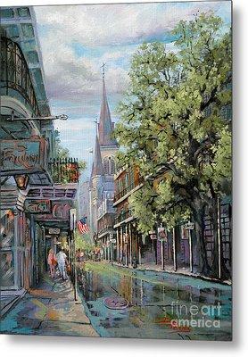 Chartres Rain Metal Print by Dianne Parks