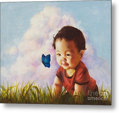 Chasing Butterfiles Metal Print by Isabella Kung