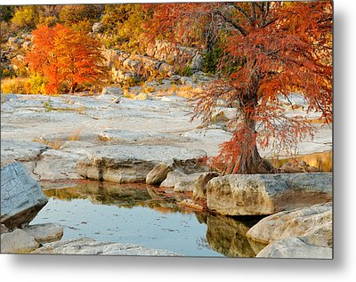 Chasing The Light At Pedernales Falls State Park Hill Country Metal Print by Silvio Ligutti