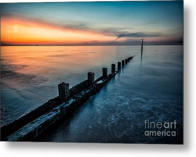 Chasing The Sunset Metal Print by Adrian Evans