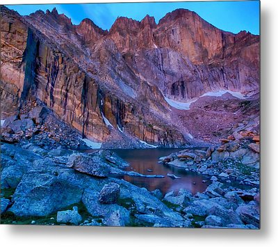 Metal Print featuring the photograph Chasm Lake Gold by Rob Wilson
