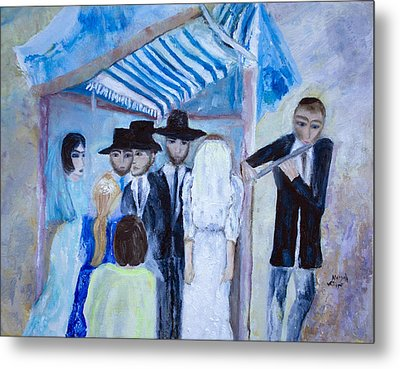 Chassidic Wedding Metal Print