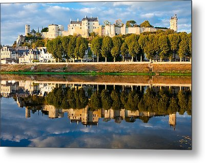 Chateau Above And Below Chinon  Metal Print by Kirk Strickland
