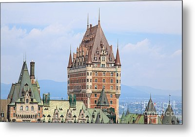 Chateau Frontenac Quebec City Canada Metal Print by Edward Fielding
