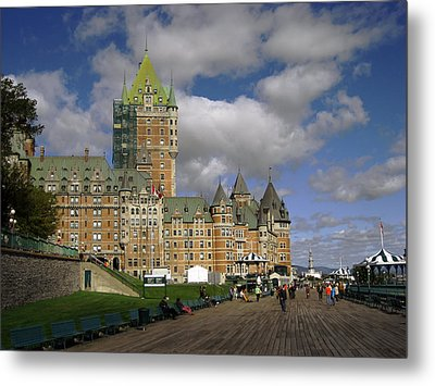 Chateau Frontenac Quebec City Metal Print by Nicky Jameson